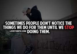 people don't notice